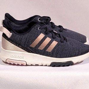 Girls Adidas Cloudform Kids Size 10 Rose Gold Blue